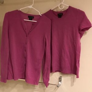 Wore once Bloomingdales cashmere sweater set